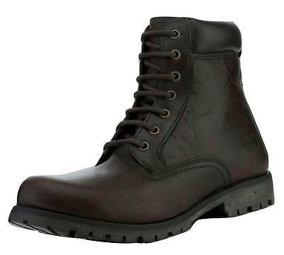 Red Tape Men's Marsland Leather Casual Work Boots Dark Brown