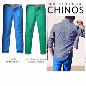 ff9d6097bc4e3 Details about ESPRIT Mens Coloured Cotton Slim Fit Chino Casual Pants  Trousers *NEW Blue/Green