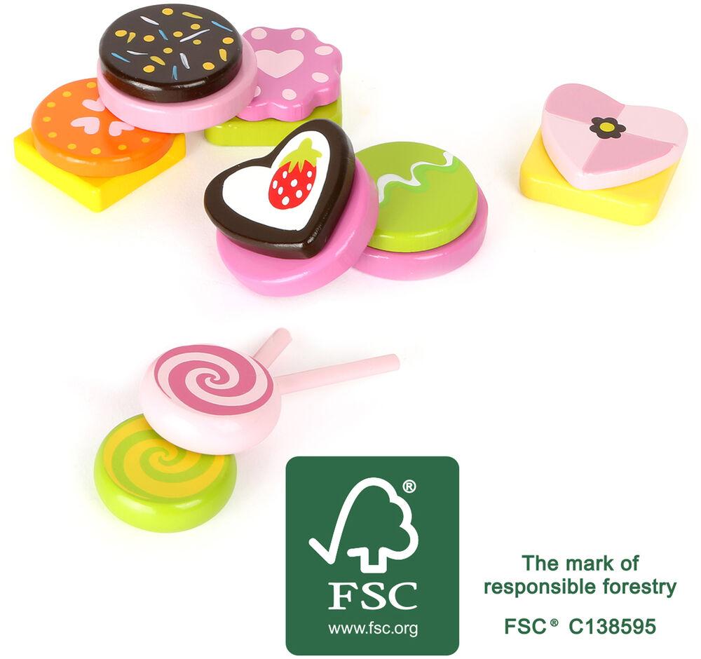 Small Foot Design En Bois Bonbons Pretend Play Food