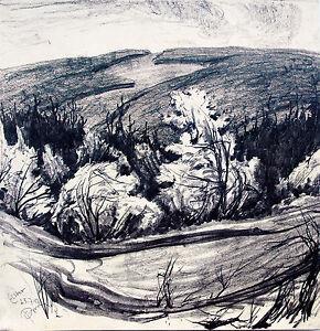 Paul-Gross-1873-1942-An-der-Elster-Sachsen1927-Neue-Sachlichkeit-Landschaft