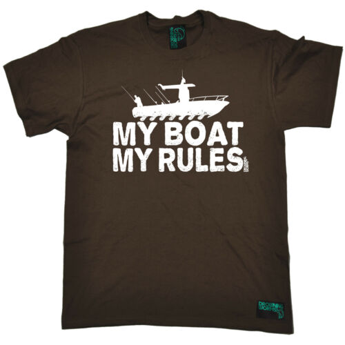 My Boat My Rules T-SHIRT Fishing Angler Bait Carp Fisherman Gift birthday funny