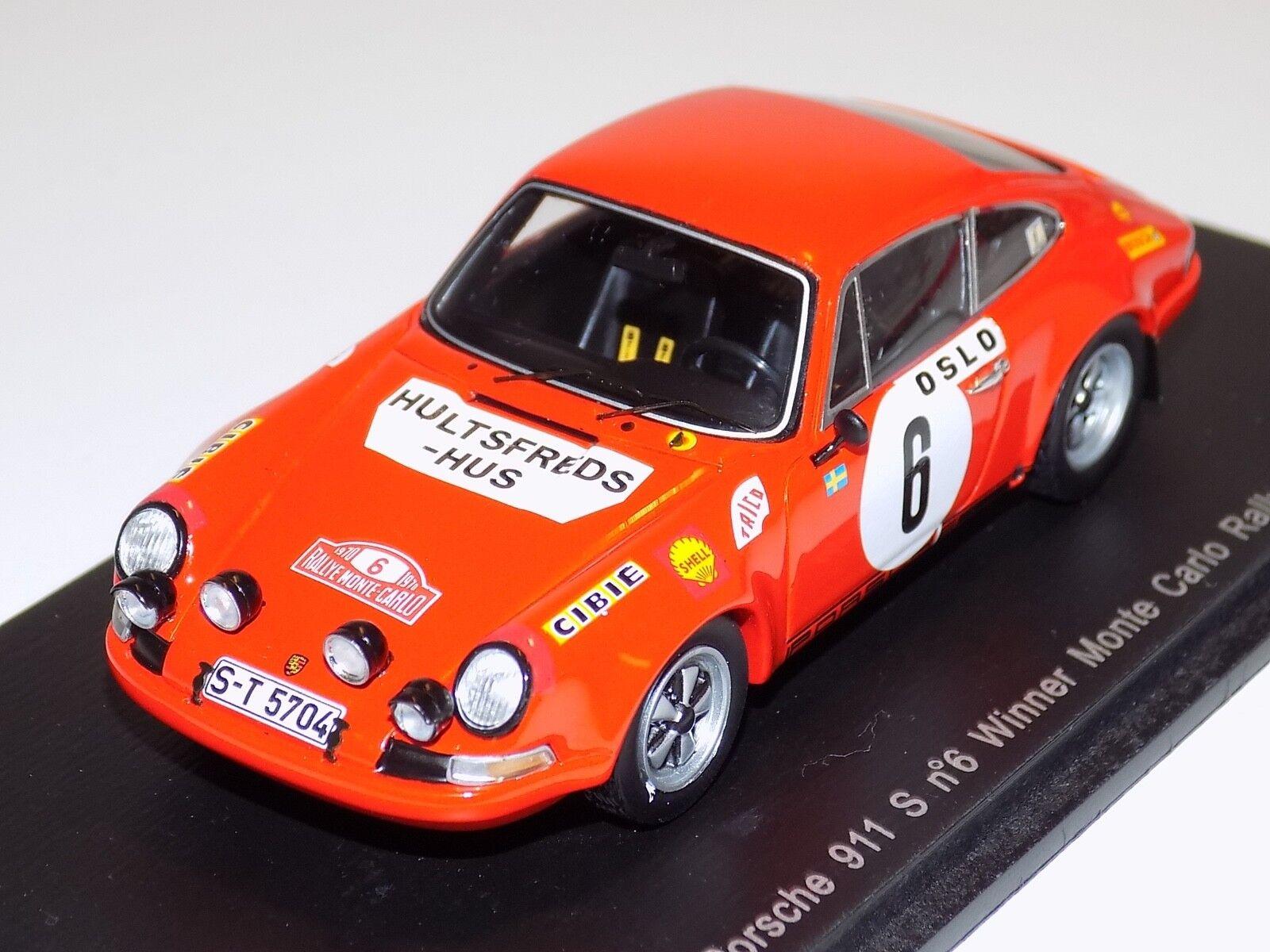 1/43 Spark Porsche 911 T Car #6 winner 1970 Monte Carlo Rally  S4023