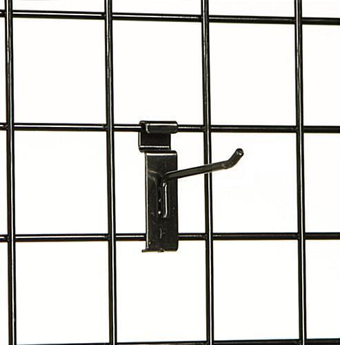 "4/"" Wire Slat Grid Hooks Hook Pegs Gridwall 50 Black 6mm Tubing Retail Display"