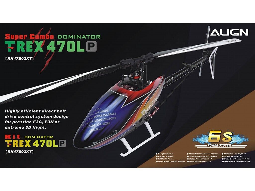 Align T-REX 470LP KIT DOMINATOR