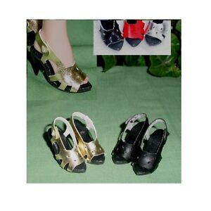 DOLL Shoes BLACK Patent for Cabbage Patch and Cloth dolls 87mm PLEASE READ DES.