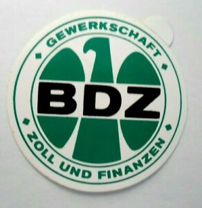 Fan-Aufkleber Bdz Trade Union Inches And Finance Germany Eagle Logo 80er