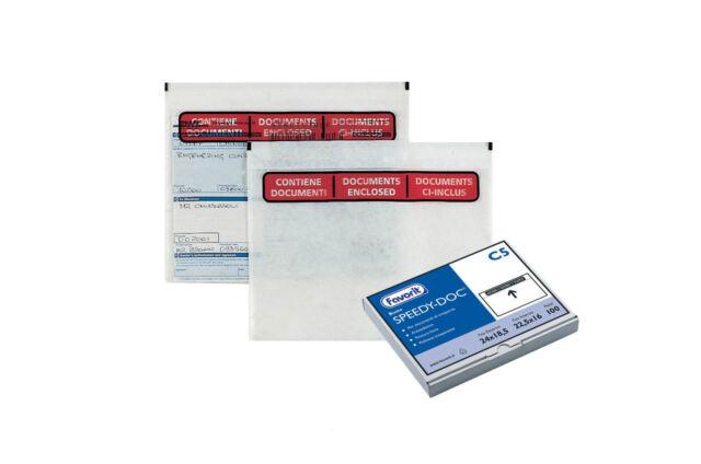 1000pz Buste Adesive Porta Documenti SPEEDY-DOC - C5 Neutro - Per DDT Spedizioni