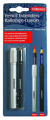 Derwent Pencil Extenders Set 8mm & 7mm for Drawing & Sketching