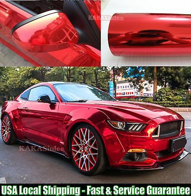 Super Mirror Car Glossy Chrome Vinyl Wrap Film Sticker PT Gold ABUS Quick