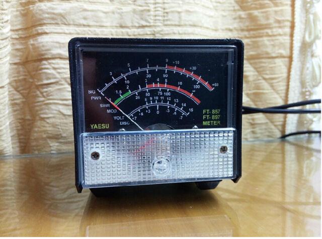 New External S meter/SWR/Power meter for Yaesu FT-857/FT-897 Black