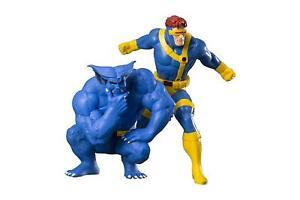 Kotobukiya Artfx Marvel X-men Cyclope & Beast Deux Pack 18 Cm Statue