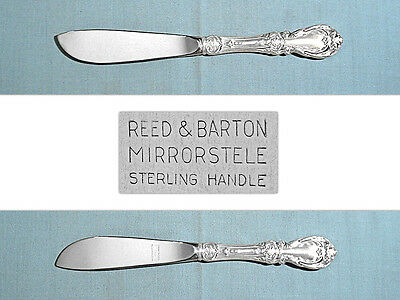Sterling Silver Flatware Reed And Barton Burgundy Master Butter Flat Handle