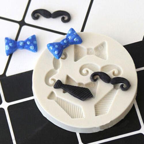 Silicone Beards Bow Tie Mould Mustache Cake Fondant Sugarcraft Chocolate M/_XI