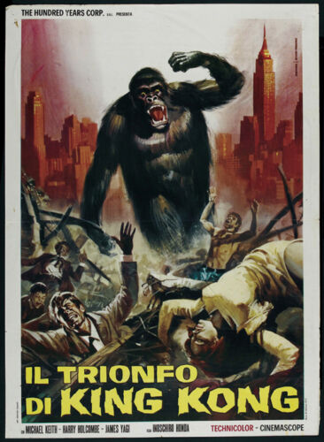 King Kong Vs Godzilla #2 horror cult movie poster 24x33 inches approx 1962