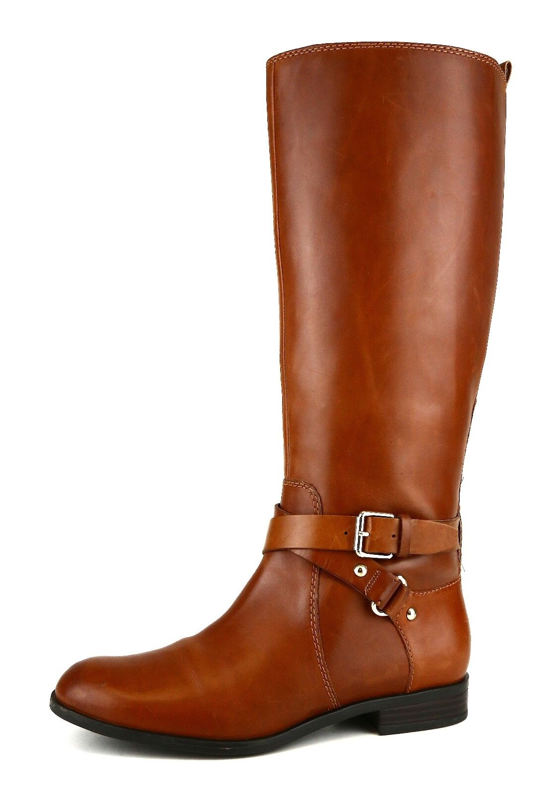 Enzo Angiolini Daniana Riding Leather Boot Brown Women Sz 8M 5267 *