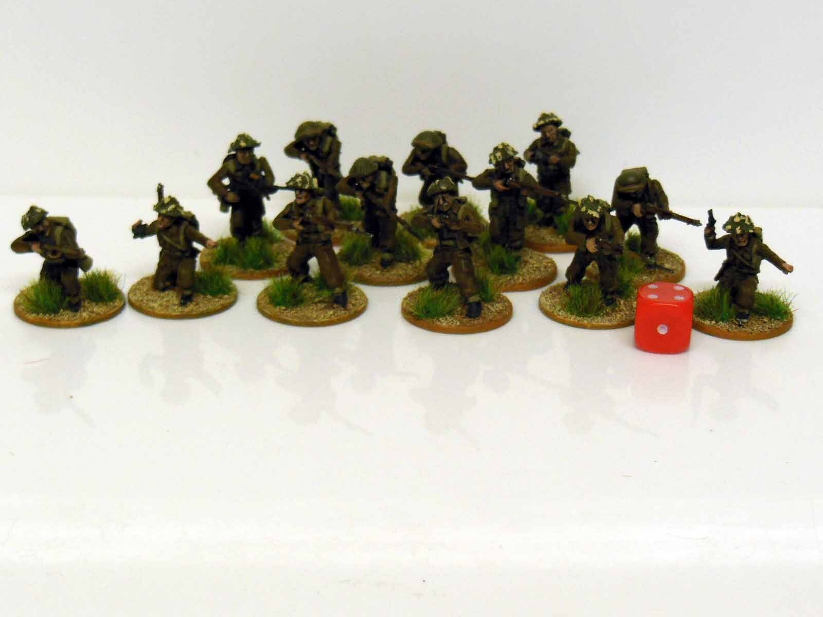 28mm Bolt Action Chain Of Command British Infantry Painted & Based 13 Figures R1