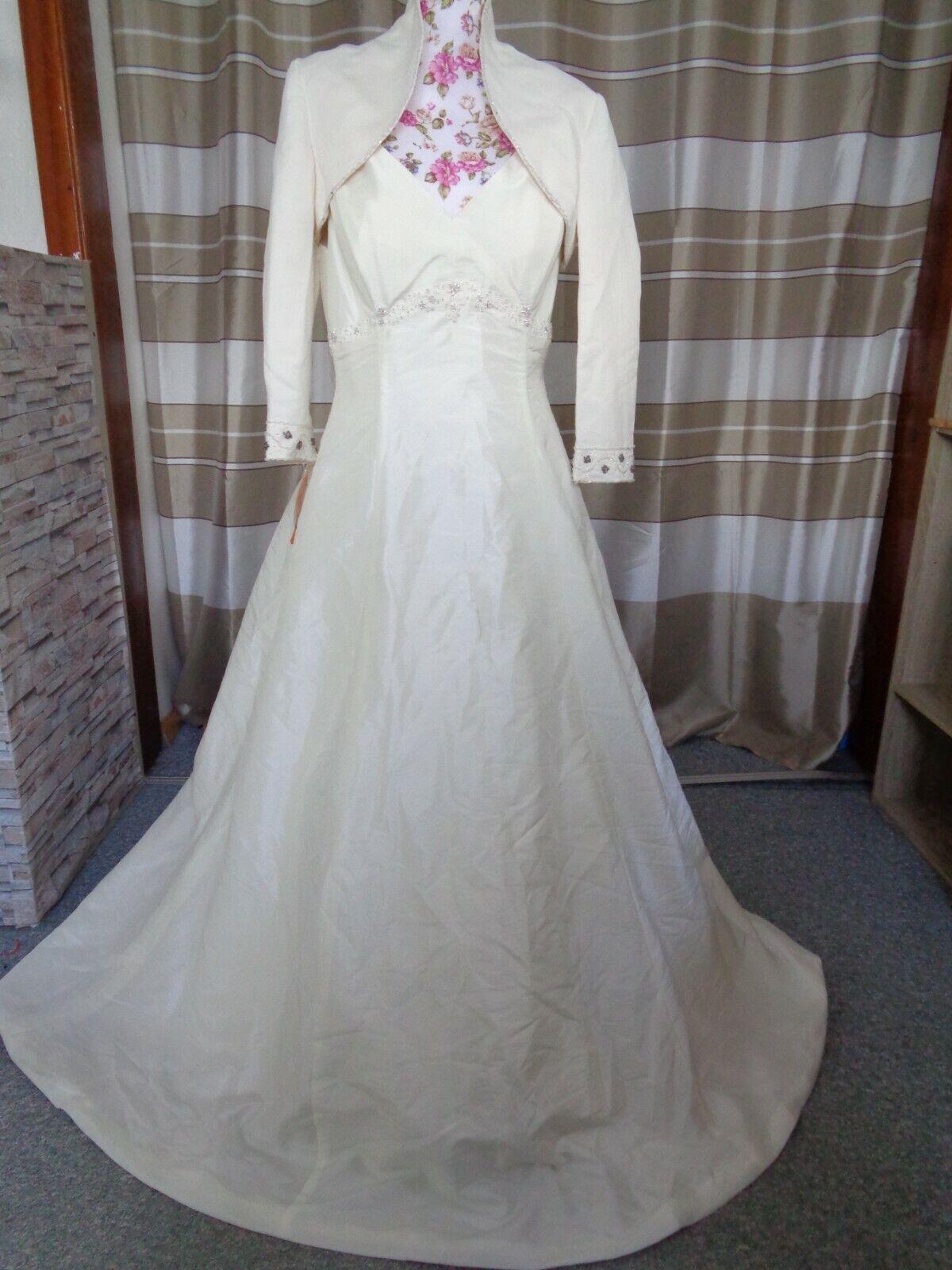 (4)Edles Damen Braut Standesamt Abend Kleid GR: 38