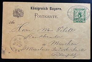 Altdeutschland Bayern Ganzsache Postkarte Mi. P 48 Fd Sonderstempel Nürnberg