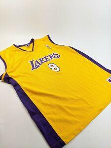 Details about VTG Champion Kobe Bryant Jersey LA Lakers #8 NBA Vintage 90s Size 48 Yellow
