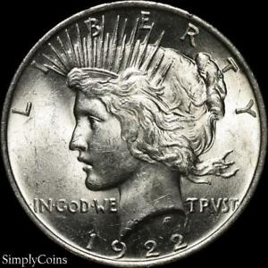 1922-Peace-Dollar-BU-Uncirculated-LUSTER-90-Silver-US-Coin