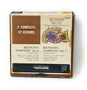 Vanguard Stereolab Ampex Double Play Beethoven Symphony No. 6 & 7 Reel To Reel