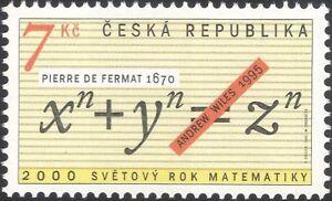 Czech-Republic-2000-Mathematics-Year-Fermat-039-s-Theorum-Wiles-Algebra-1v-n45994