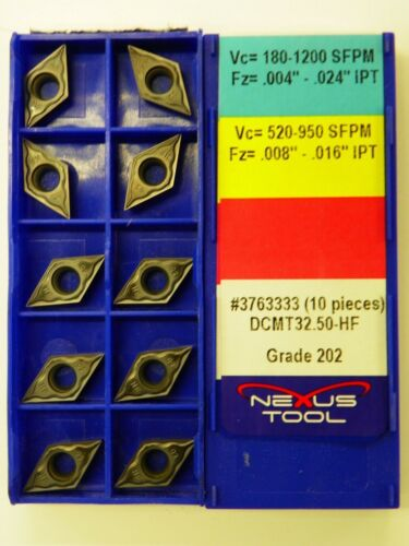 DCMT 32.50-HM 202 Indexable Coated Tips Bits   I047 20pc NEXUS CARBIDE INSERTS