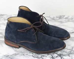RUSSELL \u0026 BROMLEY Mens Navy Blue Suede