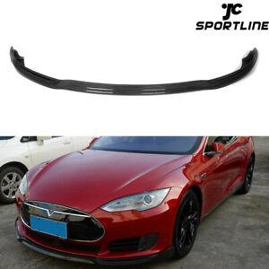 Spoilerlippe-Carbon-Front-Spoilerschwert-fuer-Tesla-Model-S-Bj12-15-Ansatz-Lippe