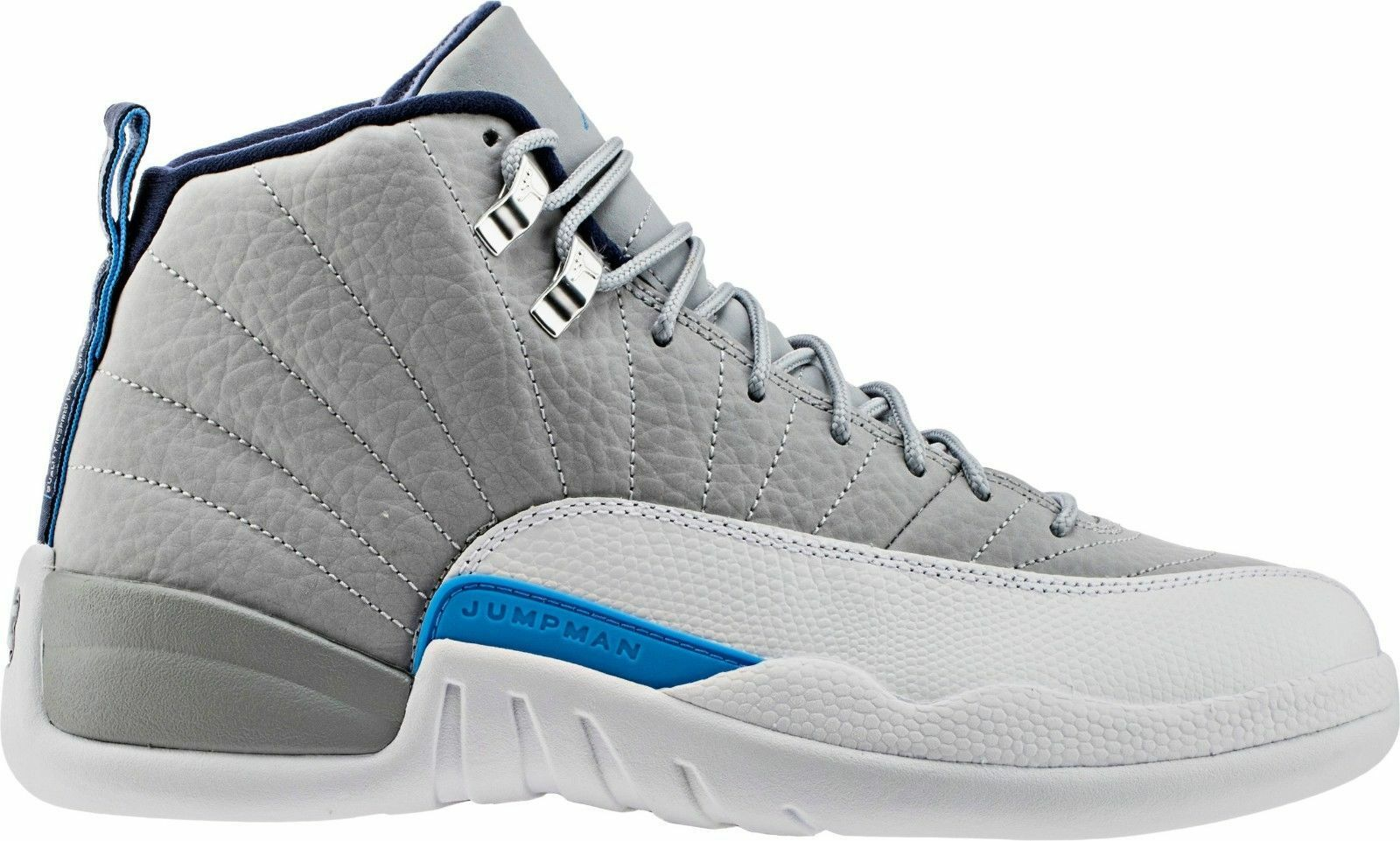 NIKE AIR JORDAN 12 RETRO  WOLF GREY WHITE blueE UNC 130690-007 (Size 13)