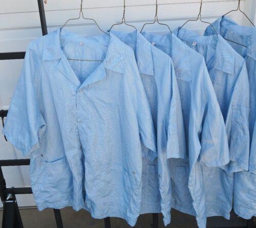!Lot of 15 Light Blue ESD smocks-various sizes: Me
