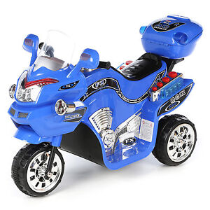 Details about Blue FX 3 Wheel Ride On Toys 6V Battery Powered Electric Cars  for Kids to Ride