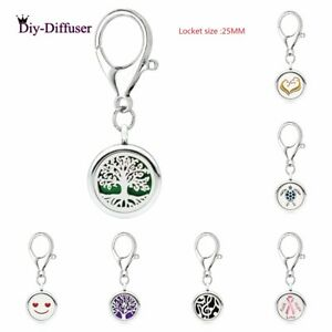 Natural & Alternative Remedies 25mm Locket Essential Oil Aroma Perfume Diffuser Pendant Keychain Keyrings 5 Pad To Prevent And Cure Diseases Health & Beauty
