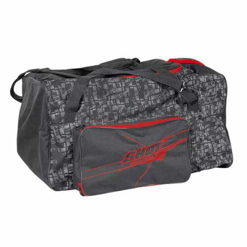 BLACK RED MX ENDURO TRAVEL SHOT RACING MOTOCROSS KIT PODIUM GEAR BAG