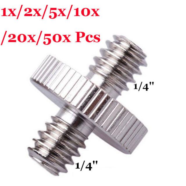 "10/5/1x 1/4"" to 1/4"" Male Thread Convert Screw Adapter Mount for Tripod Monopod"