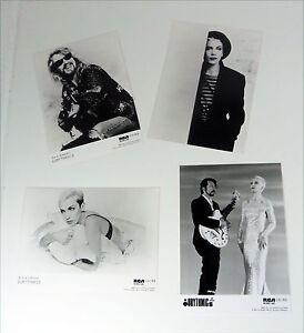 Lot-Eurythmics-4x-Deutsch-80s-RCA-Promo-publicity-photo-Set-Card