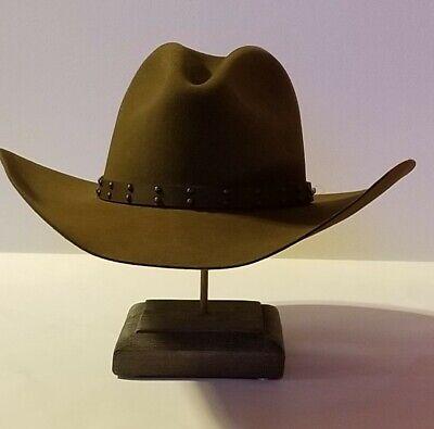 Stetson Mens 4x Tan Mine Buffalo Felt Cowboy Hat Men Sbslvm
