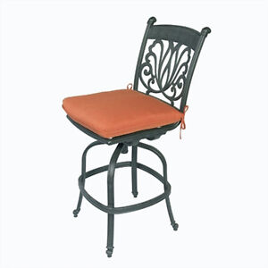 Swell Details About Outdoor Armless Bar Stool Cast Aluminum Patio Furniture Sunbrella Seat Cushions Home Interior And Landscaping Ponolsignezvosmurscom