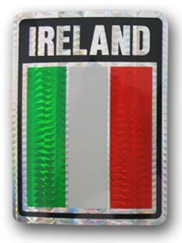 "Ireland Country Reflective Decal Bumper Sticker 3.875/"" x 3/"""