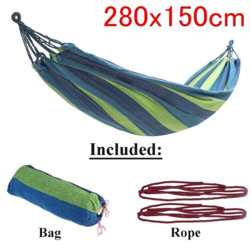 Nylon Hammock Air Chair Hanging Swinging Camping Outdoor 280cm Garden Home K