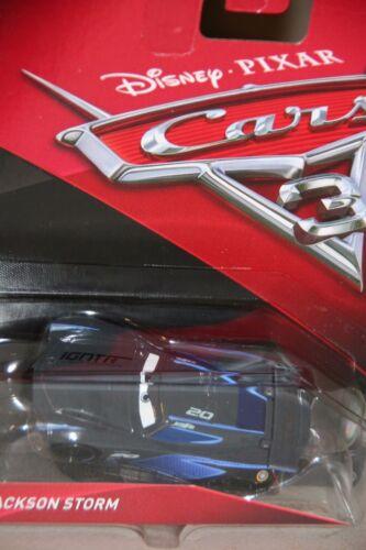 """DISNEY PIXAR CARS 3 /""""#20 JACKSON STORM/"""" NEW IN PACKAGE"""