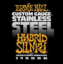 Ernie Ball 2247 Stainless Steel Hybrid Slinky Electric Guitar Strings 9-46