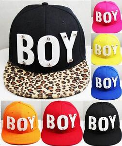 4f94a43c528 BOY Snapback Mens Cap Hat 3D Letters Rivet Spikes Bolted 1pc U ...