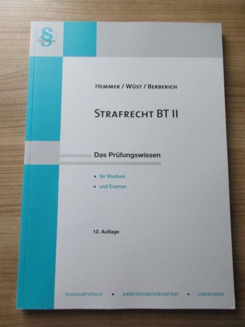 Strafrecht BT II von Achim Wüst und Karl-Edmund Hemmer (2015, Kunststoffeinband)