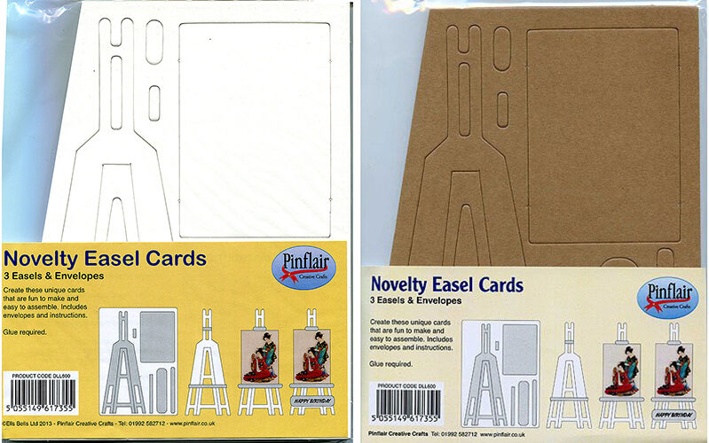 2 Pack Large Pinflair Novelty Easel Cards /& Envelopes Brown or White