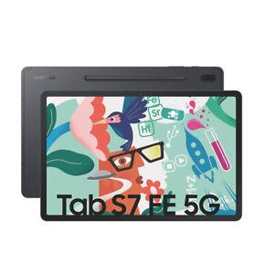 Samsung Galaxy Tab S7 FE, (64GB, Wi-Fi + 5G, 12,4 Zoll) Tablet - Mystic Black