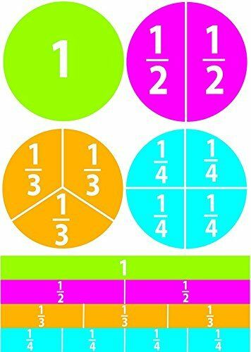 Ashley Dry Erase Fractions Die-cut Magnets ash100625 Learning Theme//subject