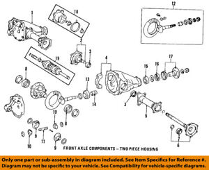 toyota oem front axle output shaft seal 9031135032 ebay rh ebay com toyota solid front axle diagram toyota hilux front axle diagram