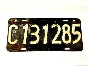 1929 Argentine Argentina Ciudad Autonoma de Buenos Aires License Plate USED #699
