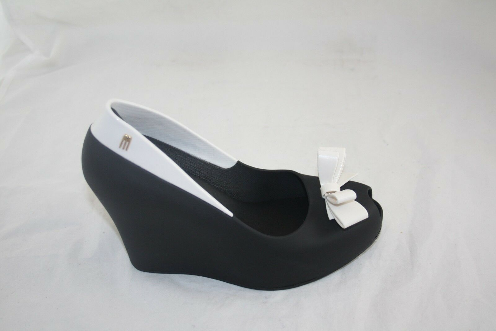 NEW WMN'S 31624 MELISSA QUEEN WEDGE AD 51708 BLACK WHITE MSRP  155.00
